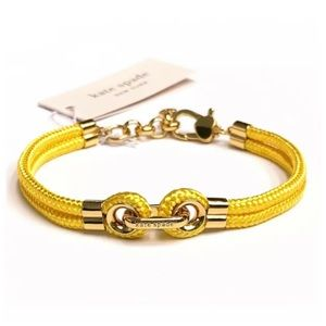 Kate Spade ♠️KNOW THE ROPES Yellow Cord Bracelet